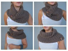 Bear Cove Cowl Knitting Pattern. I must learn to knit, so I can sport this lovely cowl this winter!!