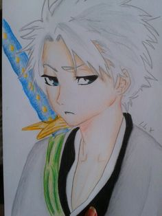 Toshiro Hitsugaya drawing :-)