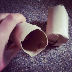 Dog puzzle toy from a toilet paper tube
