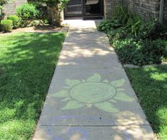 Chalk art on the sidewalk for the Tangled Party entrance! Fun decorating ideas to theme an outdoor movie night from Southern Outdoor Cinema of Atlanta.