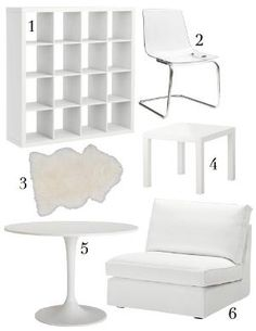 IKEA DOCKSTA/ TOBIAS Table And 4 Chairs, White, Clear (1.680 BRL) ❤ Liked  On Polyvore Featuring Furniture, Tables, Home, Interior And Table And 4 Cu2026