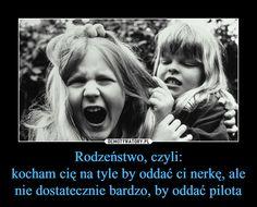 Rodzeństwo, czyli:kocham cię na tyle by oddać ci nerkę, ale nie dostatecznie bardzo, by oddać pilota –