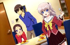Anime Charlotte  Nao Tomori Yū Otosaka Ayumi Otosaka Fondo de Pantalla