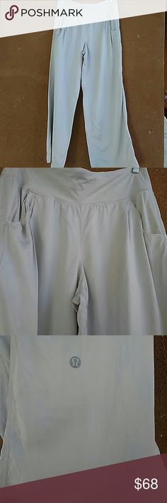 "Lululemon athletica wide leg pants Used but still in great condition, Inseam 30"". No stains . lululemon athletica Pants Wide Leg"