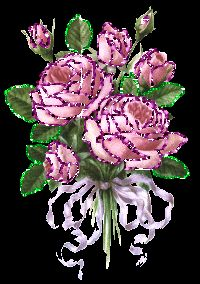 Pink Roses Graphics Animated | Rose Glitter Animated Graphics And Gifs (35)