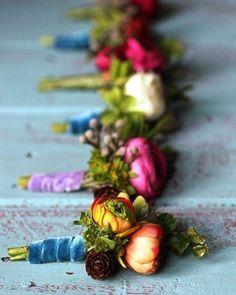 velvet wedding detail, 2020 fall wedding trend, photo @fuzeceremonies Bright Wedding Flowers, Winter Wedding Flowers, Boho Wedding, Floral Wedding, Wedding Colors, Wedding Bouquets, Wedding Attire, Wedding Ideas, Berry Wedding