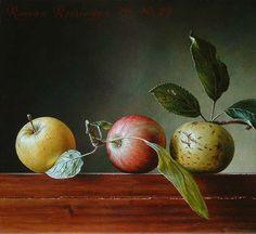 Roman Reisinger - Still life with 3 apples