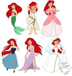 "Walt Disney Fan Art of Princess Ariel from ""The Little Mermaid"" 33261911 Ariel Disney, Disney Pixar, Walt Disney Characters, Disney Fan Art, Disney And Dreamworks, Disney Girls, Baby Disney, Little Mermaid Costumes, Disney Films"