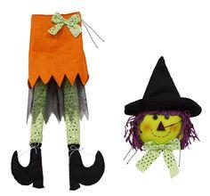"32""L witch legs wreath enhancement. #Halloween #witch #legs #wreath #enhancement #craigbachman"