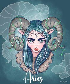 Resultado de imágenes de Google Arte Aries, Aries Art, Zodiac Art, Zodiac Signs, Art Zodiaque, Sagittarius Tattoo Designs, Leo Constellation Tattoo, Zodiac Characters, Anime Zodiac