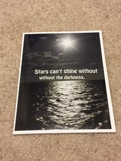 A personal favorite from my Etsy shop https://www.etsy.com/ca/listing/475117706/starsdarkness-ocean-inspirational