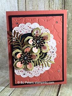 Botanical Blooms, Botanical Builder, WInk of Stella, Fluttering, Stampin' Up!, BJ Peters