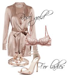 """""""Rose gold"""" by dejanadi ❤ liked on Polyvore featuring Burberry, Windsor Smith, La Perla, Bliss Diamond, women's clothing, women, female, woman, misses and juniors"""