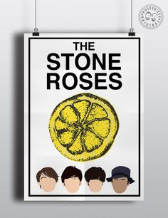 The Stone Roses Minimalist Poster by Posteritty Ian Brown Lemon