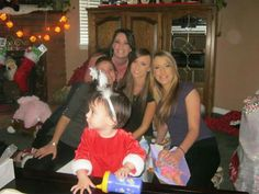 Wow...lets talk about a house full of beauties....my first Grand daughter Cecy. Left Candice, Cher, Taylor, Mandi. My beautiful Grand daughter and daughters. A room full of beautiful love.
