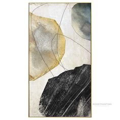 Modern Geometric Abstract Stone Print Painting on Canvas Ready to hang Framed Painting Print Large Wall Art picture Wall Art Decor Easy Canvas Art, Canvas Frame, Canvas Wall Art, Painting Frames, Painting Prints, Wall Art Prints, Paintings, Wall Art Pictures, Pictures To Paint