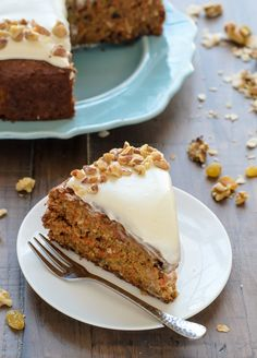 Kitchen Sink Carrot Cake. A healthy carrot cake recipe that's so moist. Our favorite!