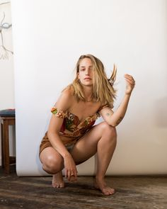 """Jemima Kirke Photographed in her studio by Katie McCurdy """