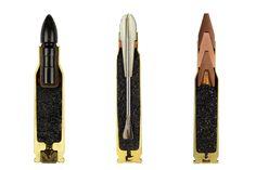 ammo :: sabine pearlman  Bullets cut in half