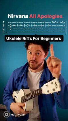 Ukulele Songs Popular, Ukulele Tabs Songs, Ukulele Fingerpicking Songs, Ukulele Songs Beginner, Bass Ukulele, Guitar Songs, Crush Amor, Nirvana Songs, Nail