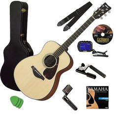 Yamaha FS700S Small-Body Folk Acoustic Guitar Natural Stage Essentials Bundle for $200 http://sylsdeals.com/yamaha-fs700s-small-body-folk-acoustic-guitar-natural-stage-essentials-bundle-200/