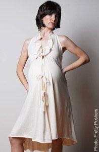 edb3e73e711 Pretty Pushers Organic Cotton Disposable Delivery Labor Gown for pregnant