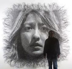 Korean sculptor Seung Mo Park and his ongoing series created by carefully layering metal wires and meshes.