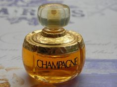 vintage Champagne miniature parfum bottle by Yves by TheNineOfCups