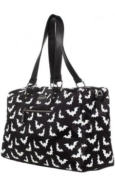 SOURPUSS SPOOKSVILLE BATS TRAVEL BAG