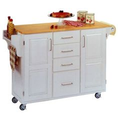 Kitchen Island With Wood Top