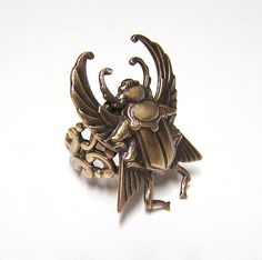 Steampunk SCARAB Beetle Ring by chinookhugs on Etsy, $45.99