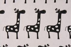 Modern Giraffe Silhouette Heavy Weight Cotton Fabric Upholstery Drapery Fabric OS-PP200 $15 /yard