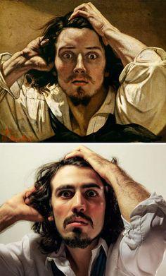 """""""Le Désespéré"""", Gustave Courbet - remake by Stefano Telloni"""