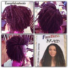 Crochet braids with Freetress - Island twist braid 20 inches