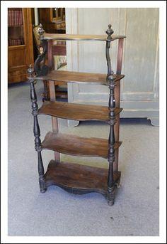 Etagere toscana luigi Filippo in noce 1860 , libreria a giorno , antica antiquariato da eredità !!
