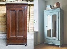 DIY: Old cabinet with chalk paint – Sonoma Seven Decor, Diy Furniture Projects, Painted Furniture, Home Deco, Kid Room Decor, Home Decor, Furniture Makeover, Painted Armoire, Home Decor Furniture