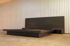 25 Haughty DIY Wooden Platform Bed Design Ideas - Page 20 of 27 Bed Frame Design, Bedroom Bed Design, Bedroom Furniture Design, Bed Furniture, Modern Bedroom, Bedroom Decor, Modern Beds, Cheap Furniture, Wooden Platform Bed