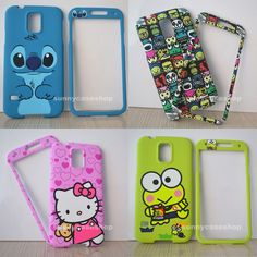 Cute Cat Stitch Cartoon front back cover case skin for Samsung Galaxy S5 V i9600