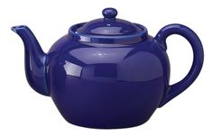 HIC Traditional Teapot High Fired Ceramic Porcelain 8Cup 46Ounce Capacity Cobalt -- More info could be found at the image url.-It is an affiliate link to Amazon. #looseleaftea Traditional Teapots, Loose Leaf Tea, Color Combos, Cobalt, Tea Time, Stoneware, Tea Pots, Porcelain, Ceramics