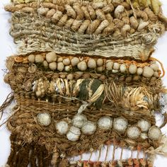 Textural weave with fabric manipulation and rust dying by Julia Wright