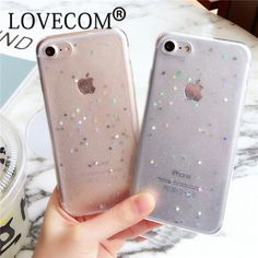LOVECOM For iPhone 6 6S Plus 7 7 Plus Case  Bling Glitter Star Powder Ultra Thin Phone Cases Soft TPU Back Cover YC2145