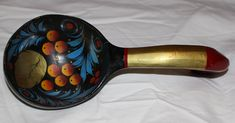 Vintage Collectible Handmade Handcrafted Handpainted Unique Colorful Wooden Spoon