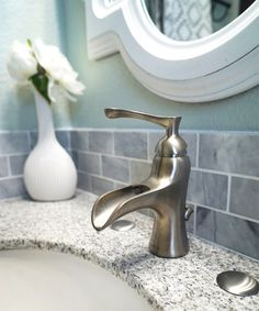 chic design waterfall bathroom faucets. Guest Bathroom Makeover Reveal farmhouse faucet  Choosing the perfect bathroom Faucet