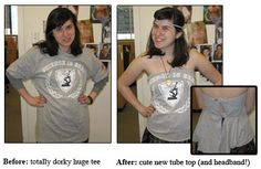 No-Sew Clothes: From Old Tee to New Tube Top!