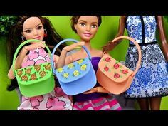Doll Hand Bag Diy │ Barbie Purse Tutorial │ How To Make Doll Bag │ DIY For Dolls - YouTube
