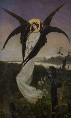 silenceforthesoul:  Wilhelm Kotarbiński - Anioł na cmentarzu (Angel in a Cemetery)