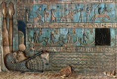 """Sky goddess Nut swallowing the Sun, Temple of Hathor, Egypt; from """"Star Gazing In Dendera"""""""