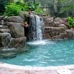 waterfall natural swimming pool designs
