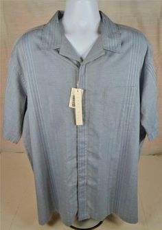 Perry Ellis Easy Care Men's Size XXL Light Blue Casual Wear Shirt #PerryEllis #ButtonFront