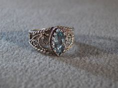 Hey, I found this really awesome Etsy listing at https://www.etsy.com/listing/117438649/vintage-sterling-silver-bold-marquise